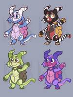 Turtle Dragon Adoptables by Lucheek