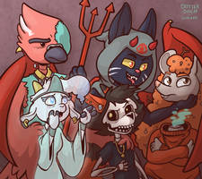 Critter Coven Phone Background 21 (Double Spread!) by Lucheek