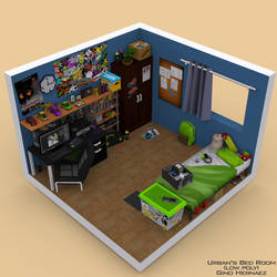 Urban's Room (Low poly room) by UrbanFoxGamer