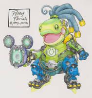 Pokemon X Overwatch: Politoed X Lucio by PeteyPariah