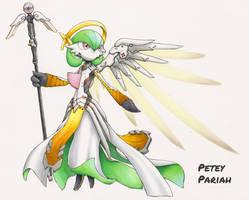 Pokemon X Overwatch: Gardevoir X Mercy by PeteyPariah