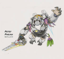 Pokemon X Overwatch: Oranguru X Winston by PeteyPariah