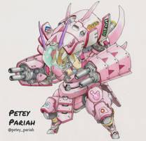 Pokemon X Overwatch: Lopunny D.VA feat. Golisopod by PeteyPariah