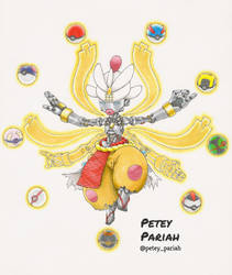 Pokemon X Overwatch: Mega Medicham X Zenyatta by PeteyPariah
