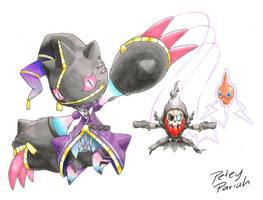 Pokemon X Overwatch: Mega Banette X Sombra by PeteyPariah