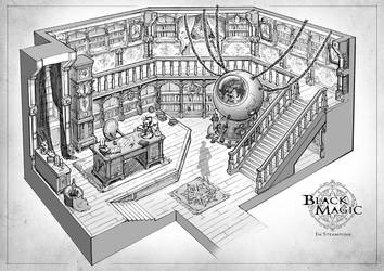 black magician's study room by Elle-Shengxuan-Shi