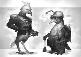 Weird birds. by Elle-Shengxuan-Shi