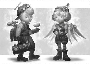Steam kids. by Elle-Shengxuan-Shi