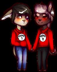 Chibi boyfriends by GummyAsh