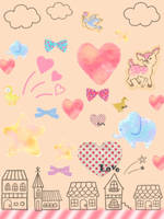 A collection of cute by ceedeng
