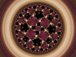 Hyperbolic tiling with golden ratio tiling pistil by DinkydauSet