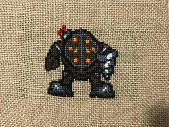 Bioshock Cross Stitch by Phantomheero