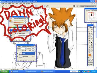 WIP :Tsuna hate coloring: by Moetaku-chan