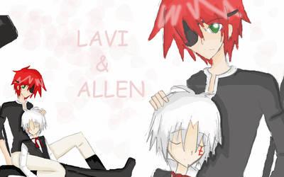 DGM :Lavi-Allen: by Moetaku-chan