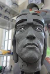 Conan 1/4 Scale Statue in progress 2 by Mutronics