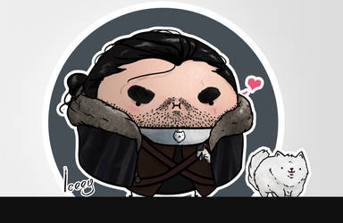 Cute Jon Snow - Illustration by Iceey23