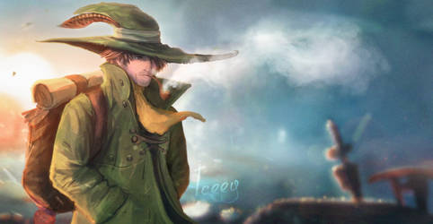 Snufkin - Moomin redesign by Iceey23