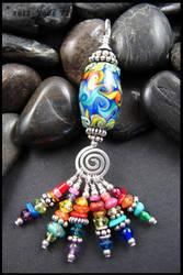 Rainbow Tassel Pendant by andromeda
