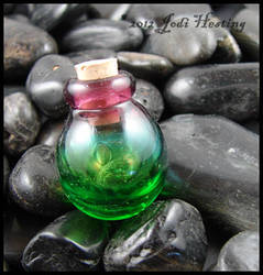 Blown Glass Lampwork Bottle by andromeda