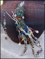 Sea Spirit - Driftwood Spirit Doll - Mermaid by andromeda