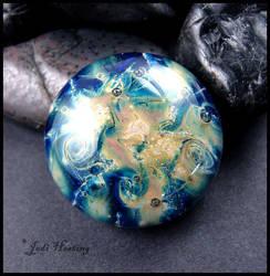 Glass Cabochon - Nebula by andromeda