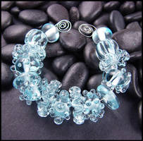 Lampwork Glass Beads - Set - Frozen by andromeda