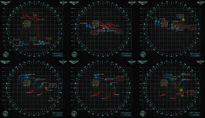 40k Battlefleet Gothic Radar-Style Maps by Light-Tricks