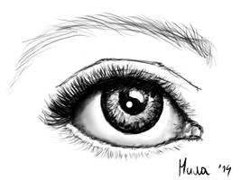 My eye by MikaMilaCat