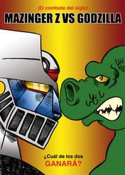 Mazinger VS Godzilla by b4rTuK1nG