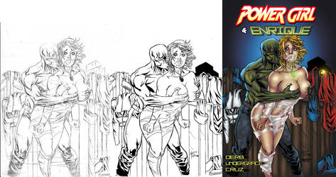 Power Girl  Enrique - Cover Page Work Progress, by undergrace777