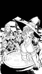 Raven's Journey: TCoC - Cover Page BW by undergrace777