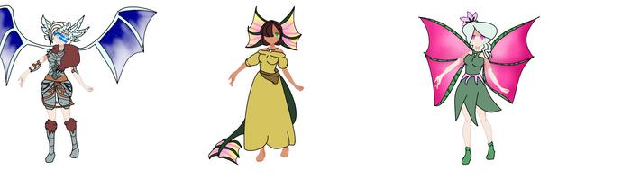 More Dragon Adopts by Princesslavenders