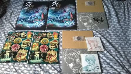 S.H. Works Kuro and both shikishi by Scygoku