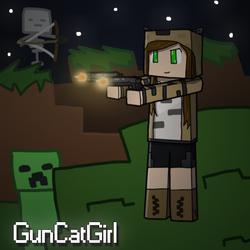 GunCatGirl by CrimnsonRed