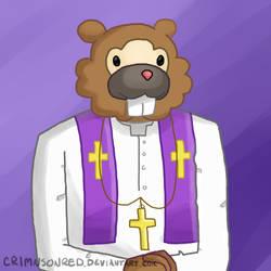 The Bidoof Pope by CrimnsonRed