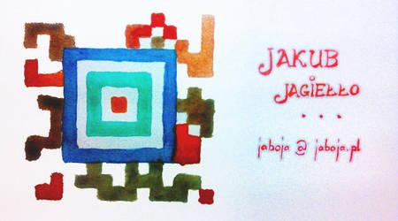 Watercolour barcode by JaBoJa
