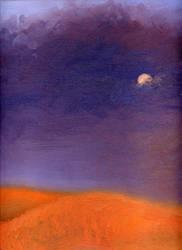 Violet Sky, Tangerine Hills by asynjur