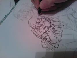 Drawing Maka and Soul by Killjoy-Chidori