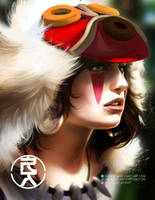 Princess Mononoke by aerlixir