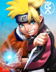 Naruto X Boruto by aerlixir