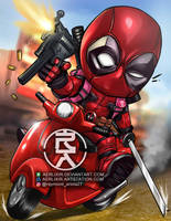 Friendly neighborhood Deadpool by aerlixir
