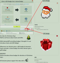 Santa Badge - Gift Badge by dncube