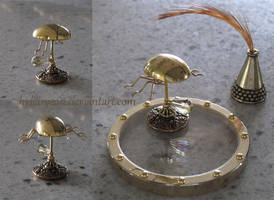 Miniature Riven Beetle Inkwell by HylianJean