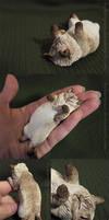 Itty Ozma Kitty Sculpture by HylianJean