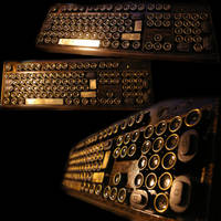 Steampunkkeyboard by vonSmallhausen