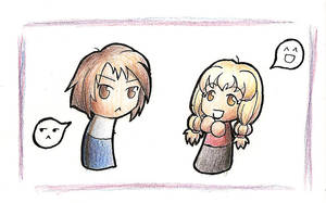 Ayumu and Hiyono by Imprisoned-Fire