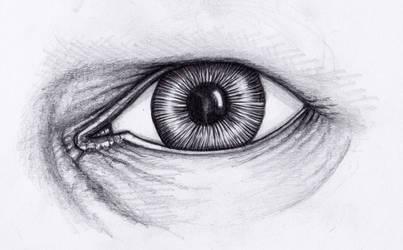 Auge gezeichnet - Bleistift #01 by StampferAlex