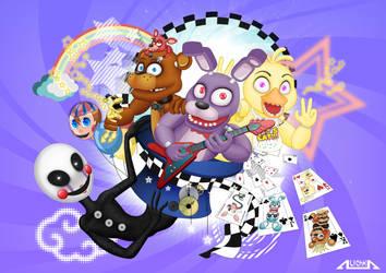 Magic Music Fazbear's Crew by A-lichka