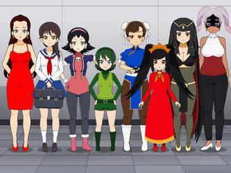 Smash Bros. Spirit Girls by MrVic25