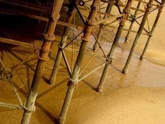 underneath blackpool pier by sclarke1986